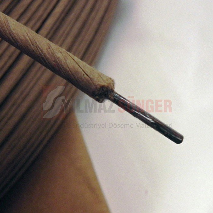 Paper covered straightened wire 3,8 mm