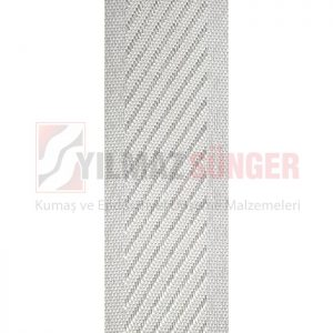 Mattress edge tape herringbone white