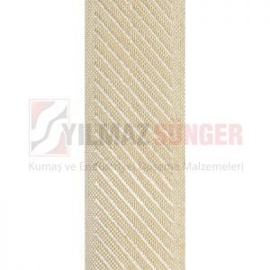 Mattress edge tape herringbone cream