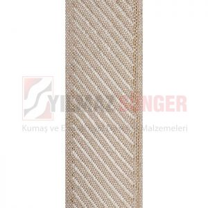 Mattress edge tape herringbone beige