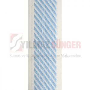 Mattress edge tape herringbone aqua