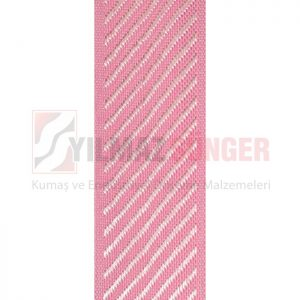Mattress edge tape herringbone pink