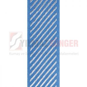 Mattress edge tape herringbone blue