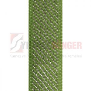 Mattress edge tape herringbone silvery grass