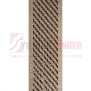 Mattress edge tape herringbone silvery brown