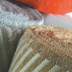 Mattress edge tape herringbone gold